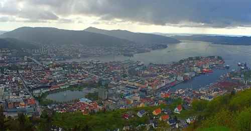 Bergen, Norway - View from Mount Floyen